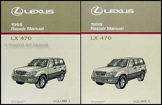 service manual automotive repair manual 1998 lexus lx seat position control free car manuals 1998 lexus lx 470 repair shop manual original 2 volume set