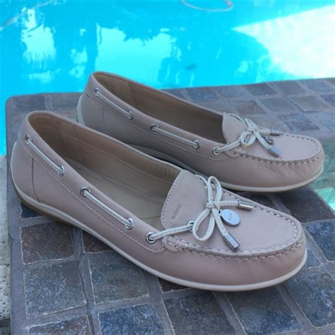 boat shoes geox 87 off geox shoes geox nude leather flats boat shoes