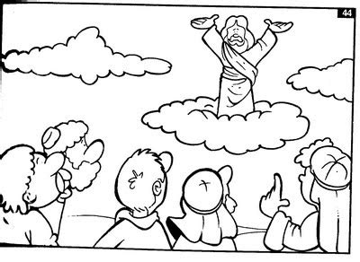 coloring pages jesus goes to heaven jesus ascending into heaven luke 24 acts 1 coloring