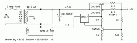 alimentatore 12v con batteria tone how to build high current regulated supply circuit diagram