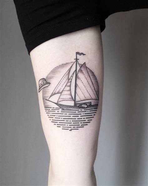 sailboat tattoo designs minimalist sailboat ideas