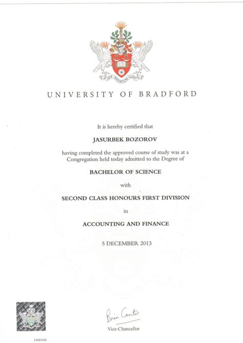 Of Bradford School Of Management Mba Certificate by Bsc Diploma Pdf