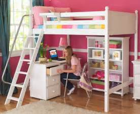Bunk Bed With Desk White Knockout High Loft By Maxtrix Panel 500