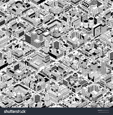 urban pattern vector city urban blocks seamless pattern large stock vector