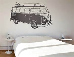 campervan wall stickers surf style camper van wall sticker contemporary wall