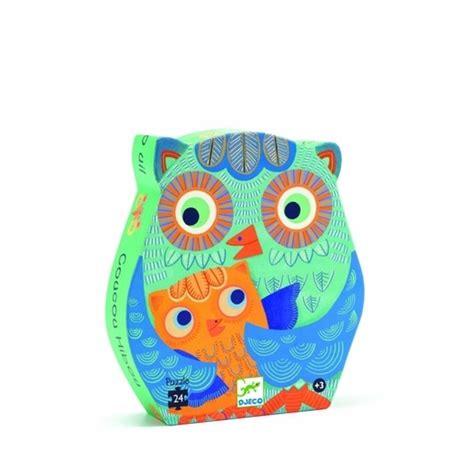 Owl Hello djeco hello owl 24 pcs pussel litenleker se