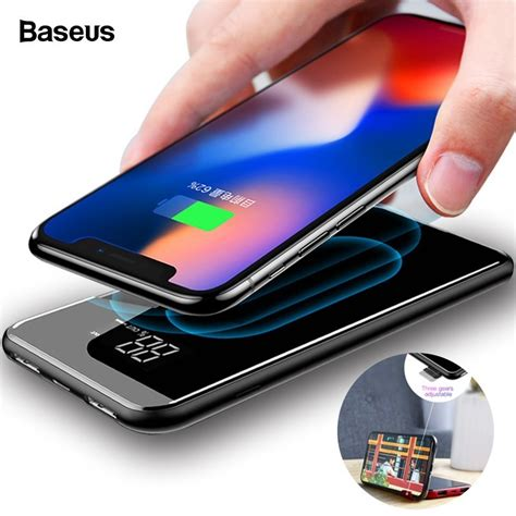 aliexpress buy baseus 8000mah qi wireless charger power bank for iphone xs max xiaomi lcd
