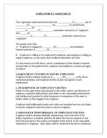 employee agreement template best photos of sle employment agreement sle