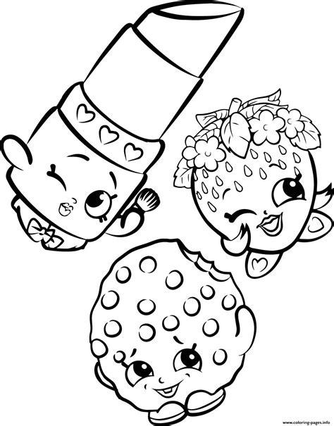 shopkins coloring pages lipstick free shopkins strawberry lipstick cookie coloring pages