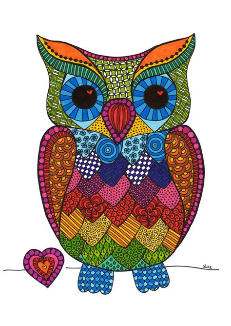 Owl Theme by Page De Coloriage Hibou Alice Gerfault