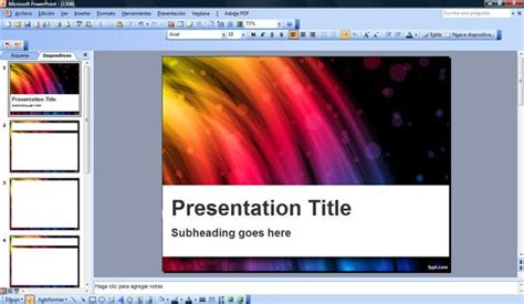 Flash Powerpoint Template Template Flash Presentation