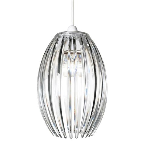 Acrylic Pendant Light Endon Ne Dorney Cl 1 Light Acrylic Non Electric Pendant