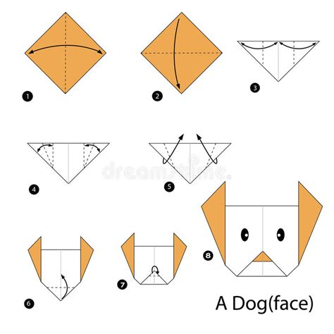 5 Step Origami - step by step how to make origami a stock