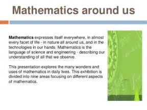 Maths In Daily Essay by Maths In Everyday