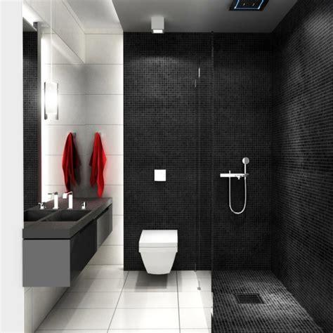 Incroyable Recouvrir Carrelage Salle De Bain #5: aménagement-salle-de-bain-douche-ouverte-italienne-carreaux-noirs-blancs.jpg