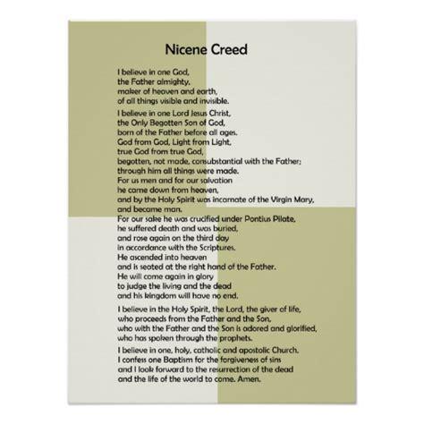 printable version nicene creed poster nicene creed customizable zazzle