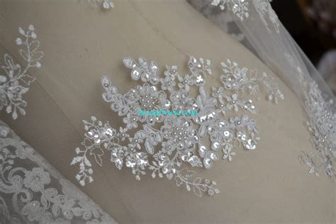 blf001 wedding lace fabric exquisite beading bridal www