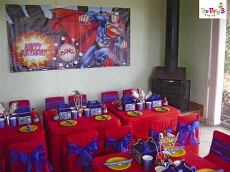 Ideas For Birthday Decorations At Home superman themed party cape town the party b kids party