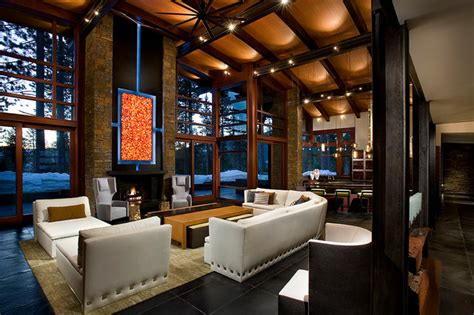 modern mountain home contemporary living room
