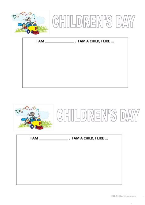 s day worksheet children s day worksheet free esl printable worksheets