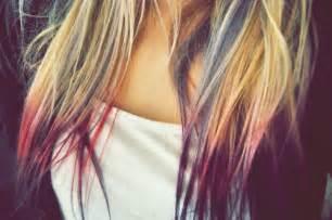 colored tips cheechow dip dye hair 1