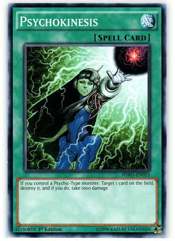 Speedroid Menko Hsrd En005 Common 1st Edition Psychokinesis Hsrd En055 Common 1st Edition Yu Gi