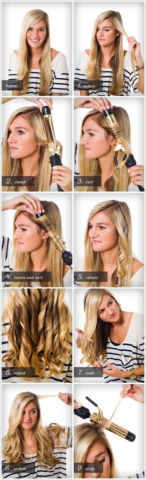 curling hair tutorial for med hair pretty simple curl class camille styles