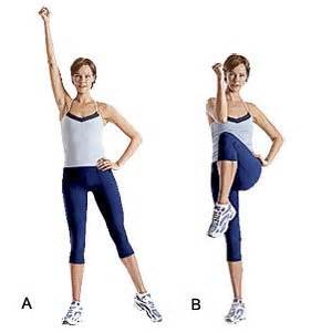 Stand Up Crunches try this straight up abs workout for a flat belly women
