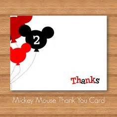 mickey mouse thank you card template mickey mouse thank you card mickey mouse birthday mickey