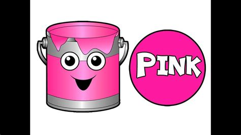 pink color song quot the paint is pink quot hd babies learn colors teach