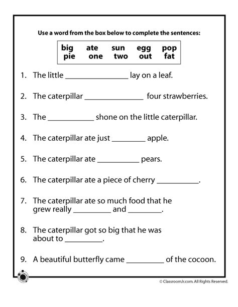 social pattern synonym the very hungry caterpillar vocabulary worksheet woo jr