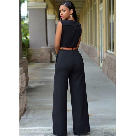 Pengiriman Cepat Baju Jumpsuit Wanita Rompers V Neck Size S 1 baju jumpsuit wanita rompers v neck size m black