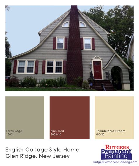 rutgers permanent painting cottage style in glen ridge colors 1503 brick