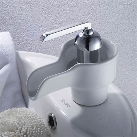 cheap bathroom basin taps waterfall bathroom sink tap with ceramic spout t0538
