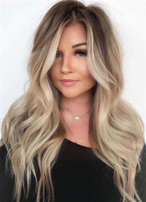 hairstyles do highlights dont show 22 stunning balayage hair colors for long hair 2018
