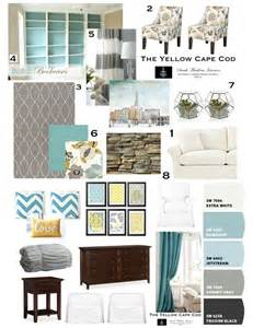 Teal Colour Scheme Living Room Ideas Teal Gray Yellow Design Board California Dreamin