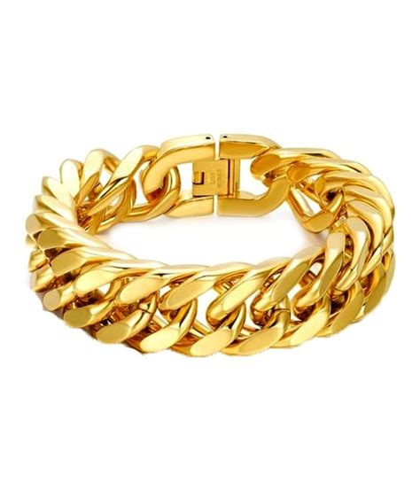 Anvi Jewellers 18kt Gold And Rhodium Coated Bracelet: Buy Anvi Jewellers 18kt Gold And Rhodium