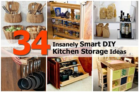 kitchen diy ideas 34 insanely smart diy kitchen storage ideas