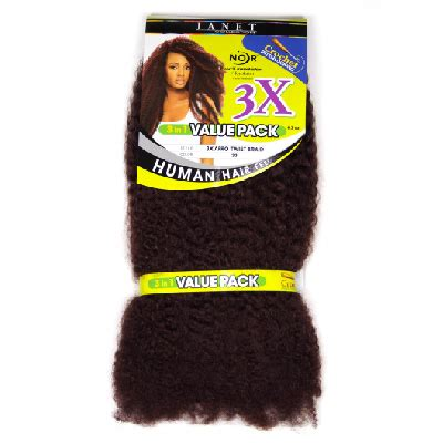 janet collection 3x caribbean hair janet collection triple afro twist braid value pack colour