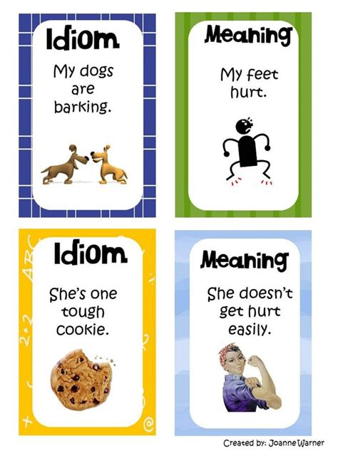 exle of idiom idioms mrs warner s 4th grade classroom