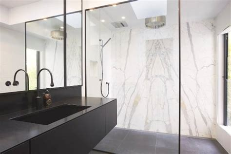 black bathroom taps