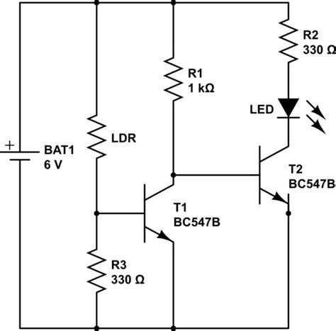 transistor bc547 circuit electronics for hobbyist sensor