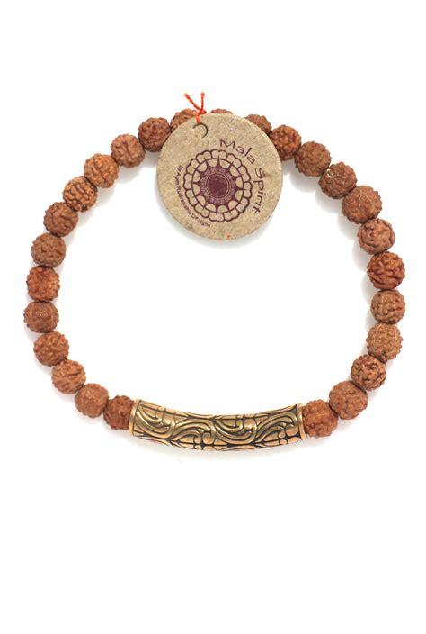 mala bali bali mala bracelet of sacred rudraksha and bronze bali