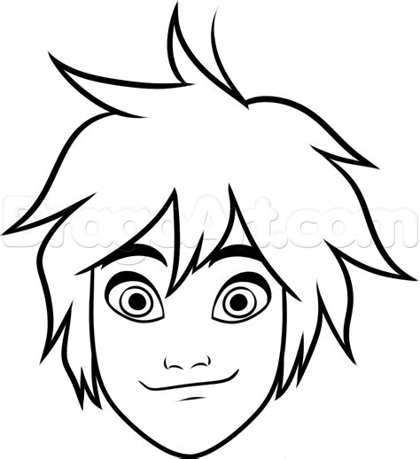 Easy To Draw by How To Draw Hiro Easy Step By Step Disney Characters