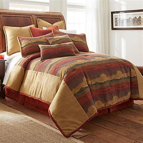 rust bedding austin horn 174 classics desert sunset comforter set in rust