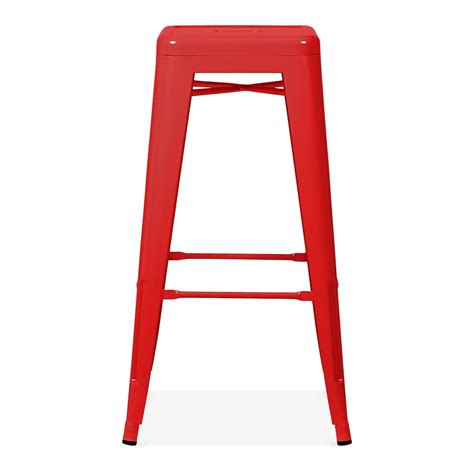 fashioned metal bar stools powder coated 75cm tolix style stool industrial