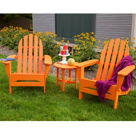 Adirondack Patio Furniture Sets Polywood 174 Classic Adirondack 3 Folding Chair Set Pw Adirondack Set5