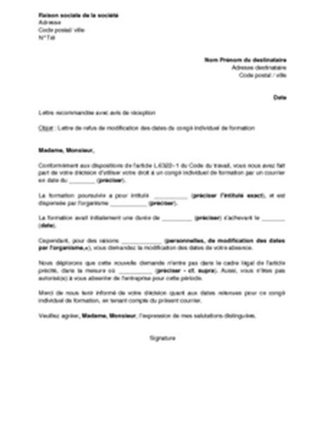 Exemple De Lettre Demande De Cif à L Employeur Exemple Lettre Fongecif
