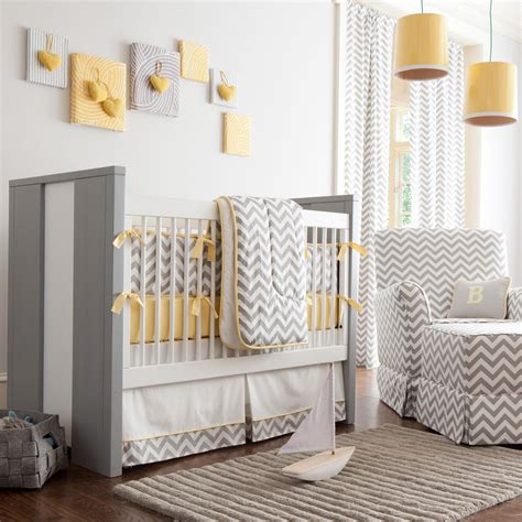 carousel baby bedding gray and yellow zig zag crib bedding bold chevron crib