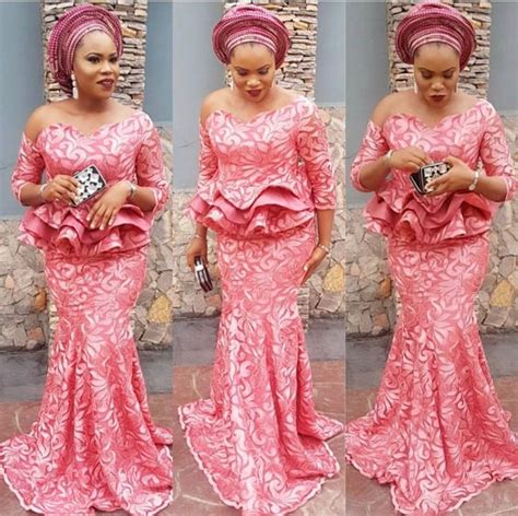 latest owambe lace beautiful aso ebi lace styles you can rock to your next